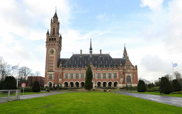 A general view of the International Court of Justice (ICJ) ahead of hearings regarding accusations of genocide of Rohingya Muslim minority by Myanmar filed by Gambia, in The Hague, Netherlands, December 9, 2019. Reuters