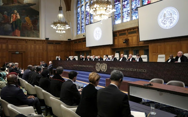 General view of the court during the ruling in a case filed by Gambia against Myanmar alleging genocide against the minority Muslim Rohingya population, at the International Court of Justice (ICJ) in The Hague, Netherlands Jan 23, 2020. REUTERS