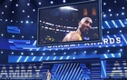 62nd Grammy Awards - Show - Los Angeles, California, US, Jan 26, 2020 - Show host Alicia Keys speaks about the passing of NBA basketball player Kobe Bryant (seen on large screen). REUTERS