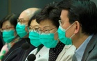 Hong Kong Chief Executive Carrie Lam wears a mask, following the outbreak of a new coronavirus, during a news conference, China Jan 28, 2020. REUTERS
