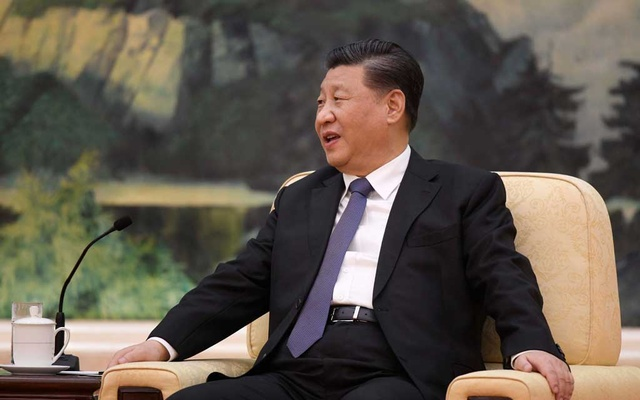 Chinese President Xi Jinping speaks during a meeting with Tedros Adhanom, director general of the World Health Organization, at the Great Hall of the People in Beijing, China, January 28, 2020. Naohiko Hatta/Pool via REUTERS