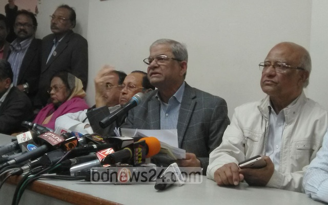 Mirza Fakhrul Islam Alamgir briefed the media on Saturday evening after daylong voting.
