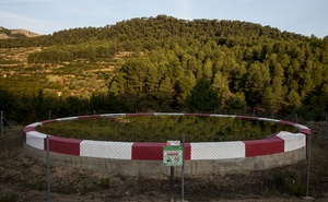 A water reserve for fires in the Llaberia Natural Reserve near Tivissa, Spain on Aug 23, 2019. The New York Times