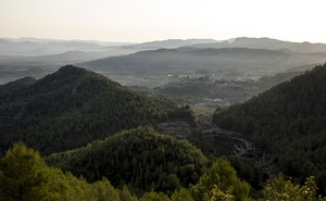 A view of the hills near Tivissa, Spain on Aug 23, 2019. The New York Times