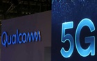 Qualcomm and 5G logos are seen at the Mobile World Congress in Barcelona, Spain, Feb 26, 2019. REUTERS