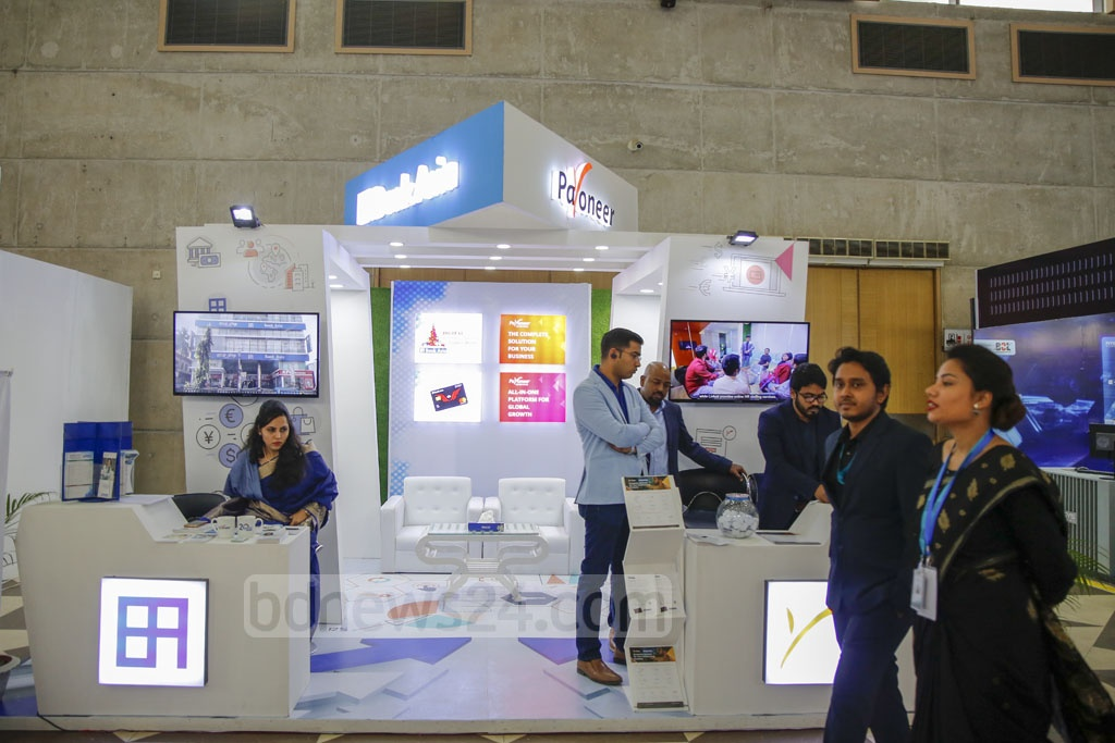 The BASIS SoftExpo 2020 began at the International Convention City Bashundhara in Dhaka on Friday. The slogan of the 16th edition of the exhibition is 'Transforming Life Through Innovation'.