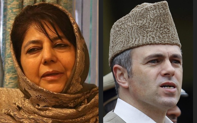 Former Jammu and Kashmir Chief Minister Mehbooba Mufti and Kashmir's Chief Minister Omar Abdullah. Reuters