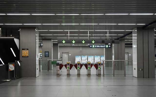 An empty subway station in Beijing on Friday, Feb 7, 2020. The death toll and the number of coronavirus infections continued to soar in China, according to official data released early Friday. (Giulia Marchi/The New York Times)