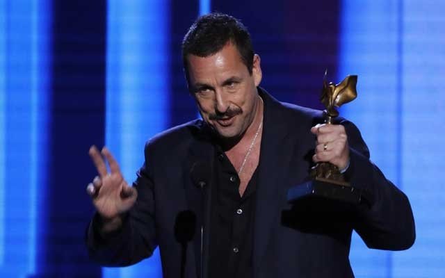 Adam Sandler accepts the Best Male Lead award for