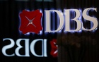 DBS signages are seen in Singapore, Oct 8 2019. REUTERS