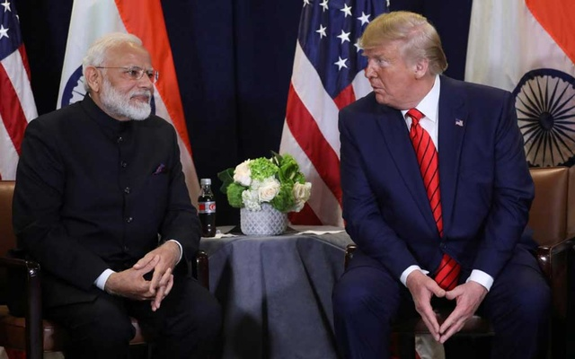 FILE PHOTO: US President Donald Trump holds a bilateral meeting with India's Prime Minister Narendra Modi on the sidelines of the annual United Nations General Assembly in New York City, New York, US, Sep 24, 2019. REUTERS
