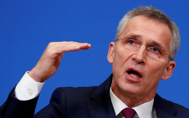 NATO Secretary General Jens Stoltenberg holds a news conference ahead of a NATO defence ministers meeting at the Alliance headquarters in Brussels, Belgium Feb 11, 2020. REUTERS