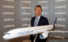 Airbus CEO Guillaume Faury poses before Airbus's annual press conference on Full-Year 2019 results in Blagnac near Toulouse, France, February 13, 2020. REUTERS