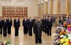 North Korean leader Kim Jong Un visits his father and former leader Kim Jong Il's mausoleum to mark the anniversary of the late leader's birth, in this undated photo released by North Korea's Central News Agency (KCNA) on Feb 15, 2020. REUTERS