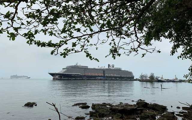 Cruise ship MS Westerdam is seen at dock in the Cambodian port of Sihanoukville, Cambodia Feb 17, 2020. REUTERS
