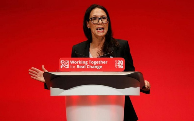 FILE PHOTO: Britain's shadow Secretary of State for Work and Pensions, Debbie Abrahams, speaks during the second day of the Labour Party conference in Liverpool, Britain, Sep 26, 2016. REUTERS/Darren Staples