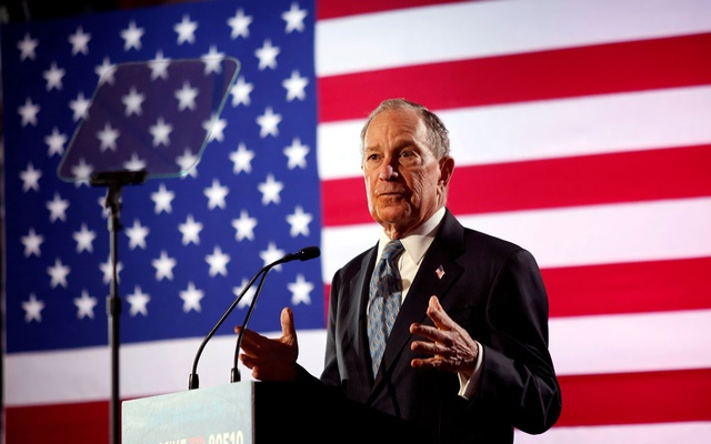 Democratic presidential candidate Michael Bloomberg speaks during a campaign event at the Bessie Smith Cultural Center in Chattanooga, Tennessee, US, Feb 12, 2020. REUTERS