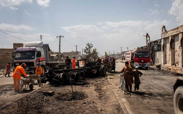 The aftermath of a car bomb attack, for which the Taliban claimed responsibility, in Kabul, Afghanistan, Sept 3, 2019. Officials say a partial truce over the next seven days will be crucial to a peace deal with the Taliban but the Afghan government is descending into acrimony. The New York Times