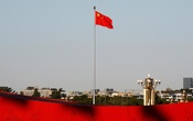A Chinese flag flutters at the Tiananmen Square in Beijing, China Oct 25, 2019. REUTERS