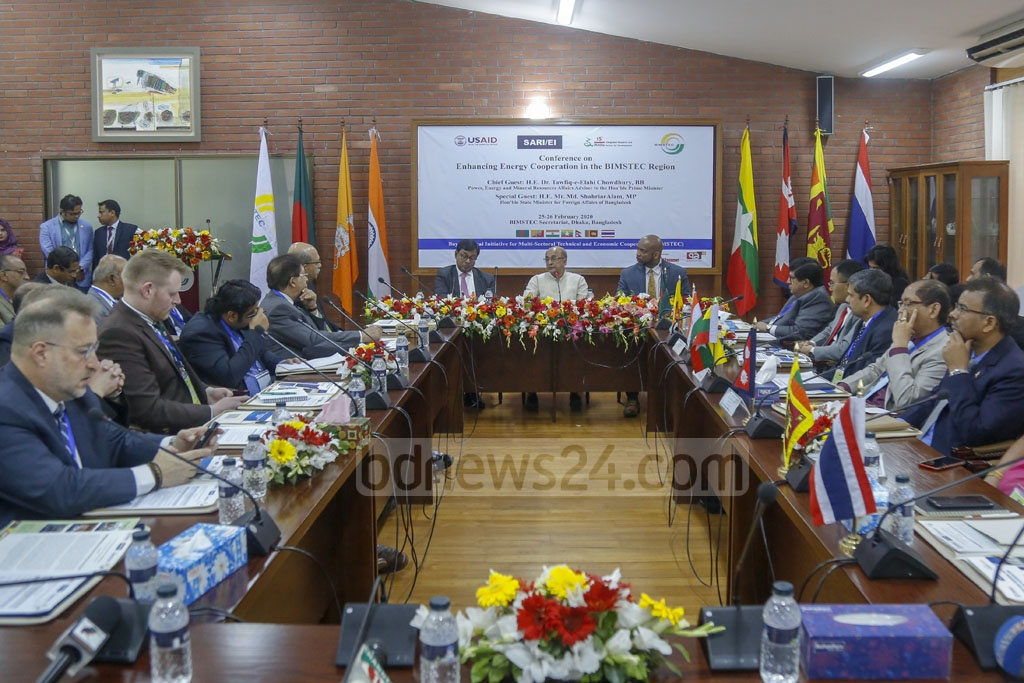 A two-day regional conference on enhancing energy cooperation kicks off at the BIMSTEC Secretariat in Dhaka's Gulshan on Tuesday. Photo: Mahmud Zaman Ovi