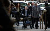 Harvey Weinstein arrives at State Supreme Court in Manhattan on Monday morning, Feb 24, 2020. The New York Times
