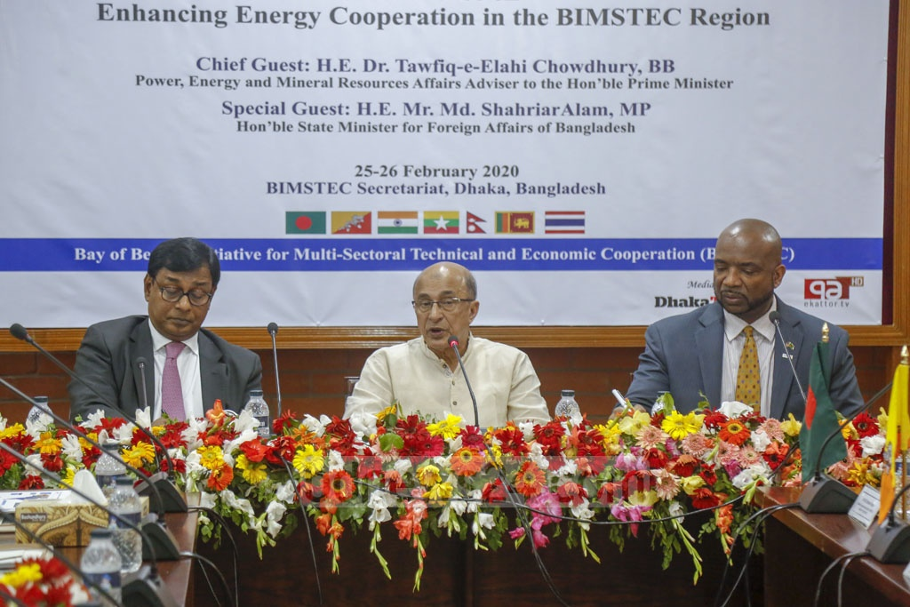 Tawfiq-e-Elahi Chowdhury, the energy adviser to the prime minister, attends a conference on enhancing energy cooperation in the BIMSTEC region as chief guest on Tuesday. Photo: Mahmud Zaman Ovi