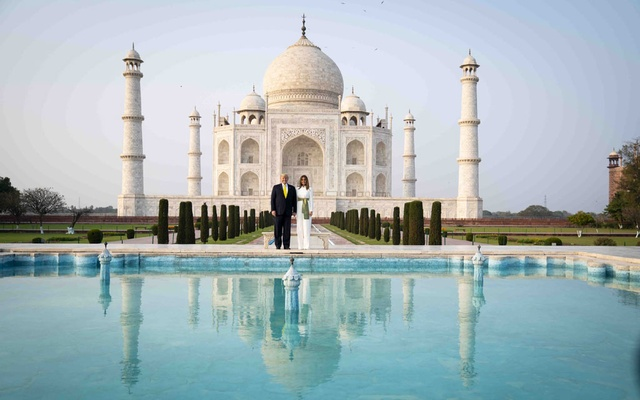 President Donald Trump and first lady Melania Trump tour Taj Mahal in Agra, India, Monday, Feb 24, 2020. The New York Times