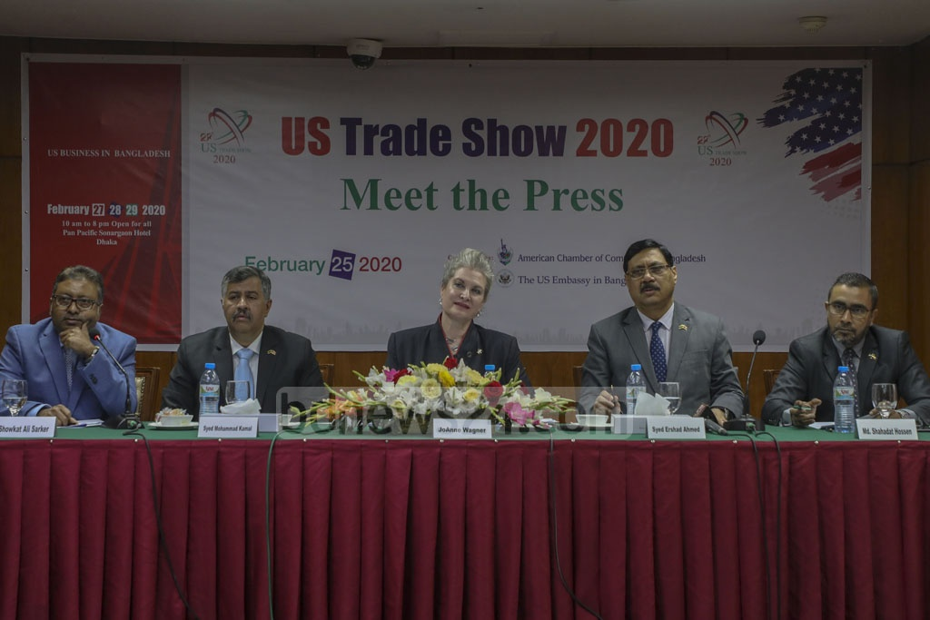 The American Chamber of Commerce in Bangladesh organised a press conference at a Dhaka hotel on Tuesday to announce the schedule of US Trade Show 2020.