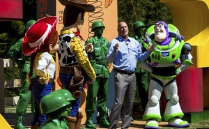 Bob Chapek, Disney's chairman of parks, during the opening ceremony for