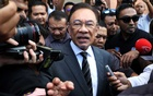 Malaysia's politician Anwar Ibrahim leaves People's Justice Party headquarters after a meeting in Petaling Jaya, Malaysia, Feb 24, 2020. REUTERS