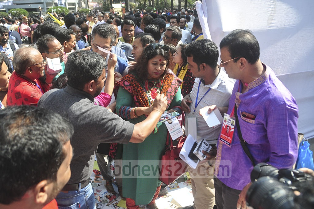 Voting is underway in the Dhaka Union of Journalists or DUJ's election at the National Press Club on Saturday.