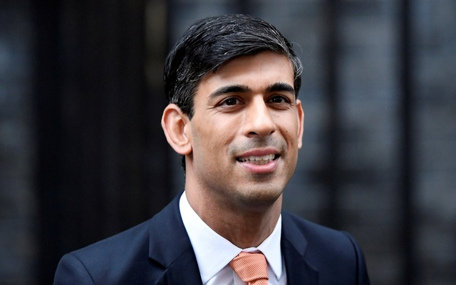 Newly appointed Britain's Chancellor of the Exchequer Rishi Sunak leaves Downing Street in London, Britain Feb 13, 2020. REUTERS