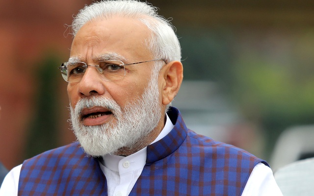 FILE PHOTO: India's Prime Minister Narendra Modi speaks to the media inside the parliament premises on the first day of the winter session in New Delhi, India, November 18, 2019. REUTERS