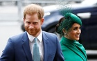 Britain's Prince Harry and Meghan, Duchess of Sussex, arrive for the annual Commonwealth Service at Westminster Abbey in London, Britain Mar 9, 2020. REUTERS