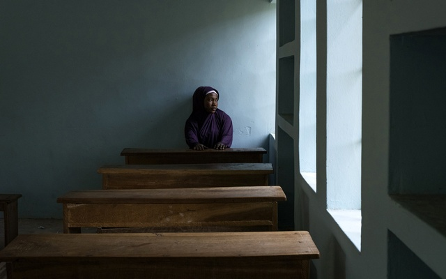 Balaraba Mohammed in a classroom at the College of Health and Technology where she was studying to become a nurse, Maiduguri, Nigeria, Aug 25, 2019. The New York Times