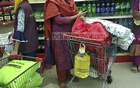 Grocery sales in Dhaka rise severalfold on Wednesday as a coronavirus outbreak prompts panic buying.