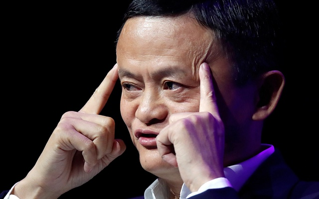 FILE PHOTO: Founder and Chairman of Chinese internet giant Alibaba Jack Ma gives a speech at Paris' high profile startups and high tech leaders gathering, Viva Tech, in Paris, France May 16, 2019. REUTERS/Charles Platiau
