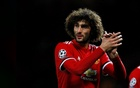 Soccer Football - Champions League - Manchester United vs FC Basel - Old Trafford, Manchester, Britain - Sept 12, 2017 Manchester United's Marouane Fellaini celebrates after the match. REUTERS/FILE