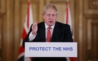 Prime Minister Boris Johnson speaks during a news conference on the ongoing situation with the coronavirus disease (COVID-19) in London, Britain Mar 22, 2020. Ian Vogler/Pool via REUTERS