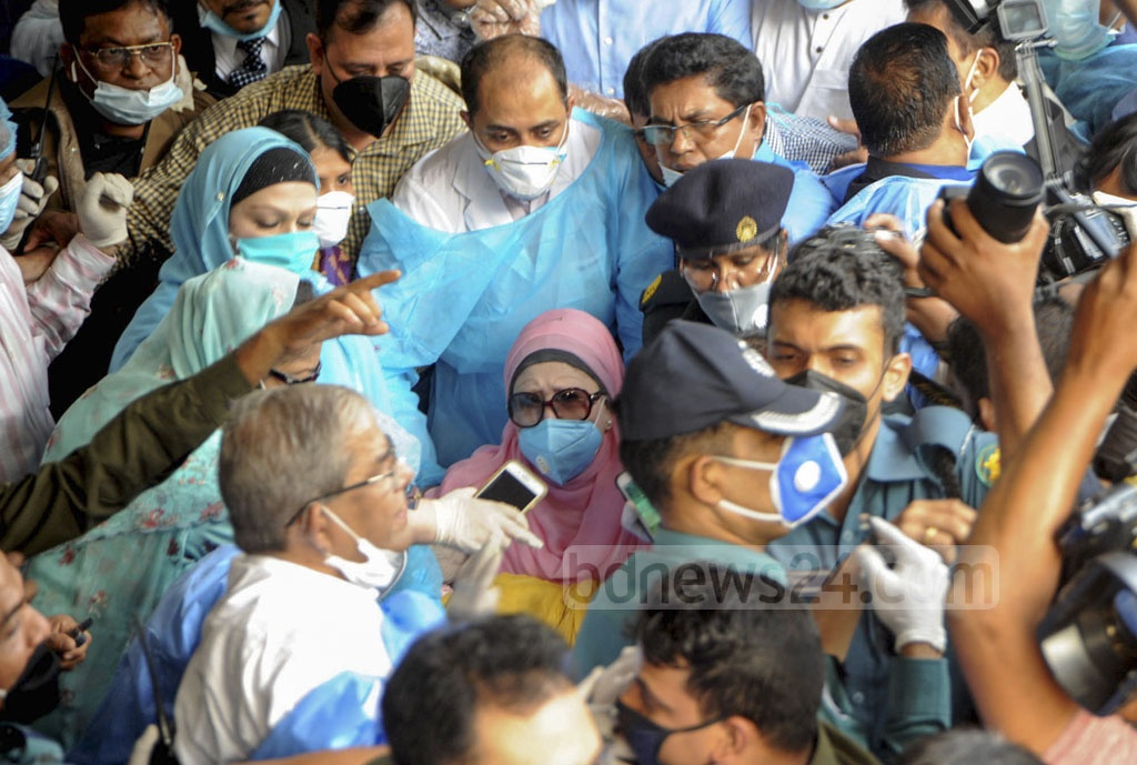 BNP Chairperson Khaleda Zia was released from BSMMU on Wednesday after 25 months behind bars. The government suspended her prison term for six months conditionally on 'humanitarian grounds' amid a surge in coronavirus cases.