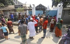 Residents of Tejgaon in Dhaka demonstrated on Saturday against the construction of a hospital by Akij Group for coronavirus patients.