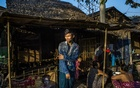 Ko Naing Lin, who lost his job at a garment factory after its supply chain in China was disrupted, outside his family's shelter in a neighbourhood of squatters, in an industrial area of Hlaing Tharyar, Myanmar, March 11, 2020. The New York Times
