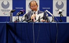 Toshiro Muto, Tokyo 2020 Organising Committee Chief Executive Officer, attends a news conference after Tokyo 2020 Executive Board Meeting, during the outbreak of coronavirus disease (COVID-19), in Tokyo, Japan March 30, 2020. REUTERS