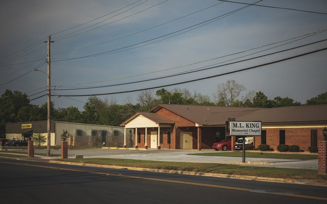 MLK Memorial Chapel funeral home in Albany, Georgia on Friday, Mar 27, 2020. This rural county in southwest Georgia, 40 miles from the nearest interstate, is now one of the most intense clusters of coronavirus anywhere in the country. The New York Times