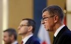 Czech Republic Prime Minister Andrej Babis attends a news conference at a Visegrad 4 summit in Prague, Czech Republic, Mar 4, 2020. REUTERS/FILE