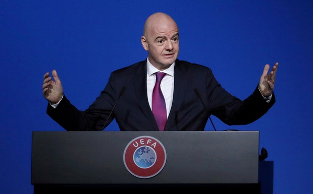 FIFA President Gianni Infantino during the UEFA Congress REUTERS/Yves Herman