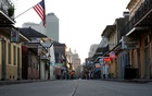 FILE PHOTO: A view of Bourbon Street amid the outbreak of the coronavirus disease (COVID-19), in New Orleans, Louisiana, US March 25, 2020. REUTERS