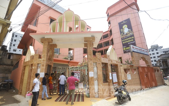 Loknath Ashram in Dhaka's Swamibagh remains open for the devotees only for a brief period amid the coronavirus outbreak. Photo: Asif Mahmud Ove