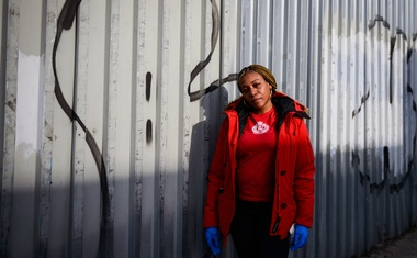Qtina Parson, who has three relatives who appear to be infected with the coronavirus, in the Bronx on Apr 1, 2020. The New York Times