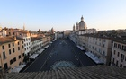 A general view of Piazza Navona, as Italians remain under lockdown to prevent the spread of the coronavirus disease (COVID-19), in Rome, Italy, April 4, 2020. REUTERS